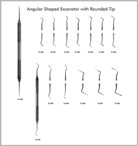 Angular Shaped Excavators with Rounded Tip