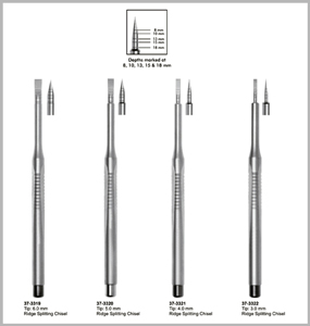 Ridge Splitting Chisels
