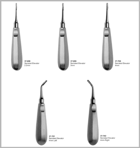 Atraumatic Extraction Serrated Tip Elevators